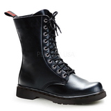 Leatherette Black DEFIANT-200 Mens Lace Up Boots