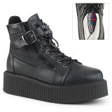 Leatherette V-CREEPER-566 Platform Mens Creepers Ankle Boots