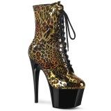 Leopard Gold 18 cm ADORE-1020LP Pole dancing ankle boots