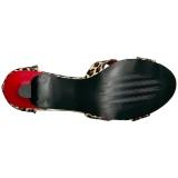 Leopard Konstläder 7,5 cm DIVINE-435 stora storlekar sandaler dam