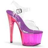 Lila 18 cm ADORE-708MCT Akryl platå klackar skor