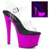 Lila 18 cm SKY-308UV Neon platå klackar skor