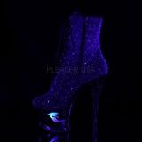 Lila glittriga klackar 18 cm MOON-1020MER pole dance stövletter