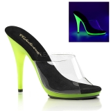 Lime Neon 13 cm POISE-501UV Platform Mules Shoes