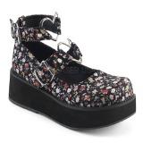 Linnetyg 6 cm SPRITE-02 lolita skor goth platåskor med tjock sula