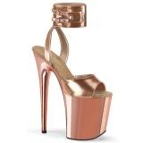 Metallic 20 cm FLAMINGO-891 högklackade skor med ankelband