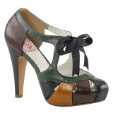 Multicolored 11,5 cm BETTIE-19 Womens Shoes with High Heels
