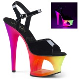 Multicolored 18 cm MOON-709UV High Heeled Sandal Neon Platform