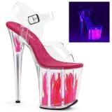 Neon 20 cm FLAMINGO-808FLM pole dance skor