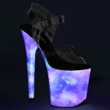 Neon 20 cm FLAMINGO-808REFL pole dance skor