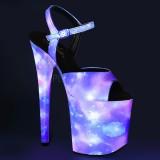 Neon 20 cm FLAMINGO-809REFL pole dance skor