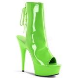 Neon Grön 16 cm Pleaser DELIGHT-1018UV Platå Halvboots