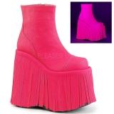 Neon Leatherette 18 cm SLAY-205 lolita ankle boots platform