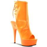 Neon Orange 16 cm Pleaser DELIGHT-1018UV Platå Halvboots