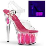 Neon Pink 17 cm Pleaser ADORE-708FLM Högklackade Platå