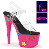 Neon glitter 18 cm Pleaser ADORE-708STR Pole dancing high heels shoes