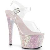 Opal glitter 18 cm Pleaser ADORE-708LG Pole dancing high heels shoes