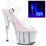 Opal glittriga klackar 18 cm Pleaser ADORE-708UVG pole dance skor