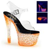 Orange Neon 18 cm CRYSTALIZE-308PS Platå högklackade skor