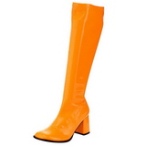 Orange Neon 7,5 cm FUNTASMA GOGO-300UV Women Knee Boots
