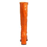 Orange Patent 7,5 cm Funtasma GOGO-300 Women Knee Boots