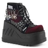 Patent 12 cm STOMP-18 lolita ankle boots wedge platform
