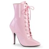 Patent 13 cm SEDUCE-1020 Rosa ankle boots high heels
