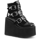 Patent 14 cm SWING-105 lolita ankle boots wedge platform