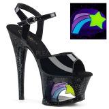 Patent 18 cm MOON-709RSS High Heeled Sandal Neon Platform
