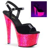 Patent 18 cm SKY-309UVLG High Heeled Sandal Neon Platform