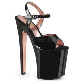 Patent 20 cm XTREME-809TT pleaser sandals with gold soles
