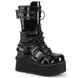 Patent 8,5 cm TRASHVILLE-138 demonia boots - unisex platform boots