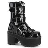 Patent 9,5 cm Demonia RANGER-308 gothic platform ankle boots