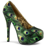 Peacock Pattern 14,5 cm Burlesque TEEZE-06-5 Platform Pumps Shoes