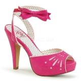 Pink 11,5 cm Pinup BETTIE-01 högklackade sandaletter