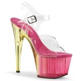 Pink 18 cm ADORE-708MCT Akryl platå klackar skor