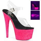 Pink 18 cm ADORE-708UVG High Heeled Sandal Neon Platform