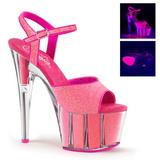 Pink 18 cm ADORE-709G Glitter Platå Högklackade Skor