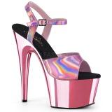 Pink 18 cm ADORE-709HGCH Hologram platå klackar skor
