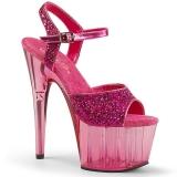 Pink 18 cm ADORE-710GT glittriga platå klackar skor