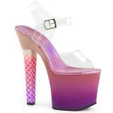 Pink 18 cm ARIEL-708OMBRE Akryl platå klackar skor