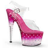 Pink 18 cm STARDUST-708T Platå Högklackade Sandaler Skor