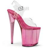 Pink 20 cm FLAMINGO-808T Acryl Platå Högklackade Sandaler
