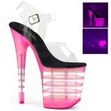 Pink 20 cm FLAMINGO-808UVLN Högklackade Sandaler Neon Platå