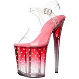 Pink 20 cm STARDUST-808T Platå Högklackade Sandaler Skor