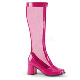 Pink 8,5 cm GOGO-307 Mesh womens boots with high heels