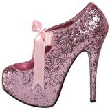 Pink Glitter 14,5 cm Burlesque TEEZE-10G Platform Pumps Shoes