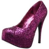 Pink Glitter 14,5 cm TEEZE-06GW pumps för män med breda fötter