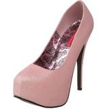 Pink Glitter 14,5 cm TEEZE-31G Platform Pumps Shoes