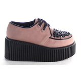 Pink Konstläder CREEPER-216 Platå Creepers Skor för Dam
